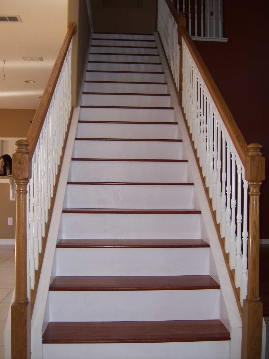 Cherry Steps With Painted Risers Hardwood Floors Inc