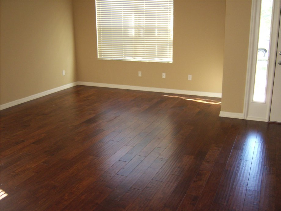 Textured Wood Floor In Living Room