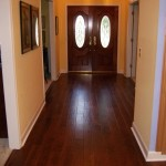 birch wood flooring in a foyer