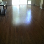 caramel colored red oak floor