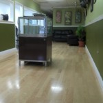 Engineered pecan wood floor