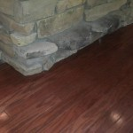 wood installed by stone bar which was undercut