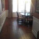 Hand scraped Spanish Hickory dining room