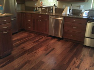 Kitchen wood floor