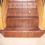 6 inch wood steps with solid custom scraped bottom step