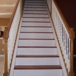 cherry steps with painted risers
