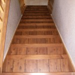 top view of 6 inch wood steps