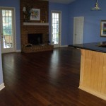 birch wood in family room