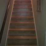 Maple laminate on stairs