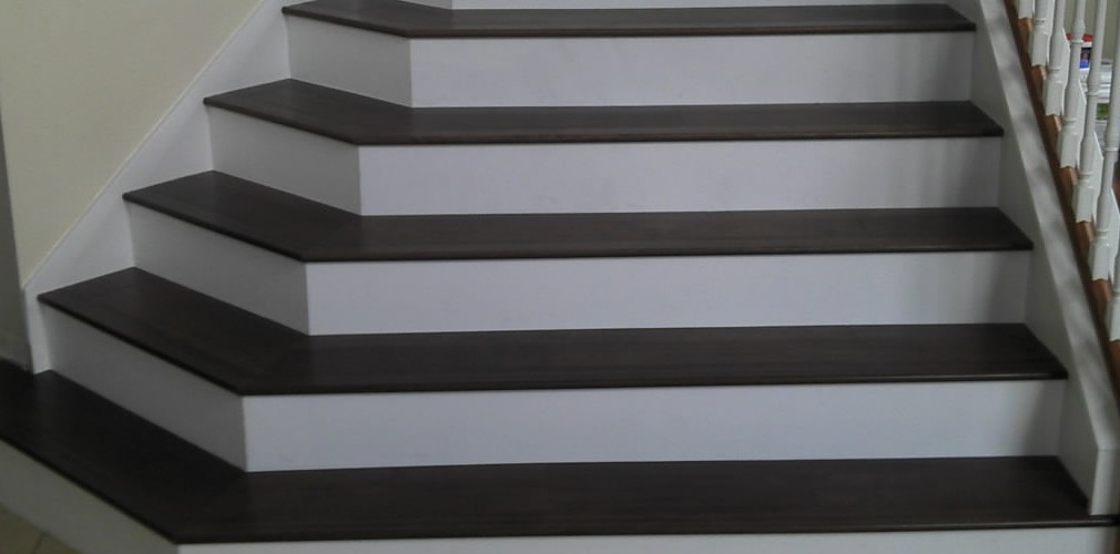 hardwood floors on stairs or solid stair treads